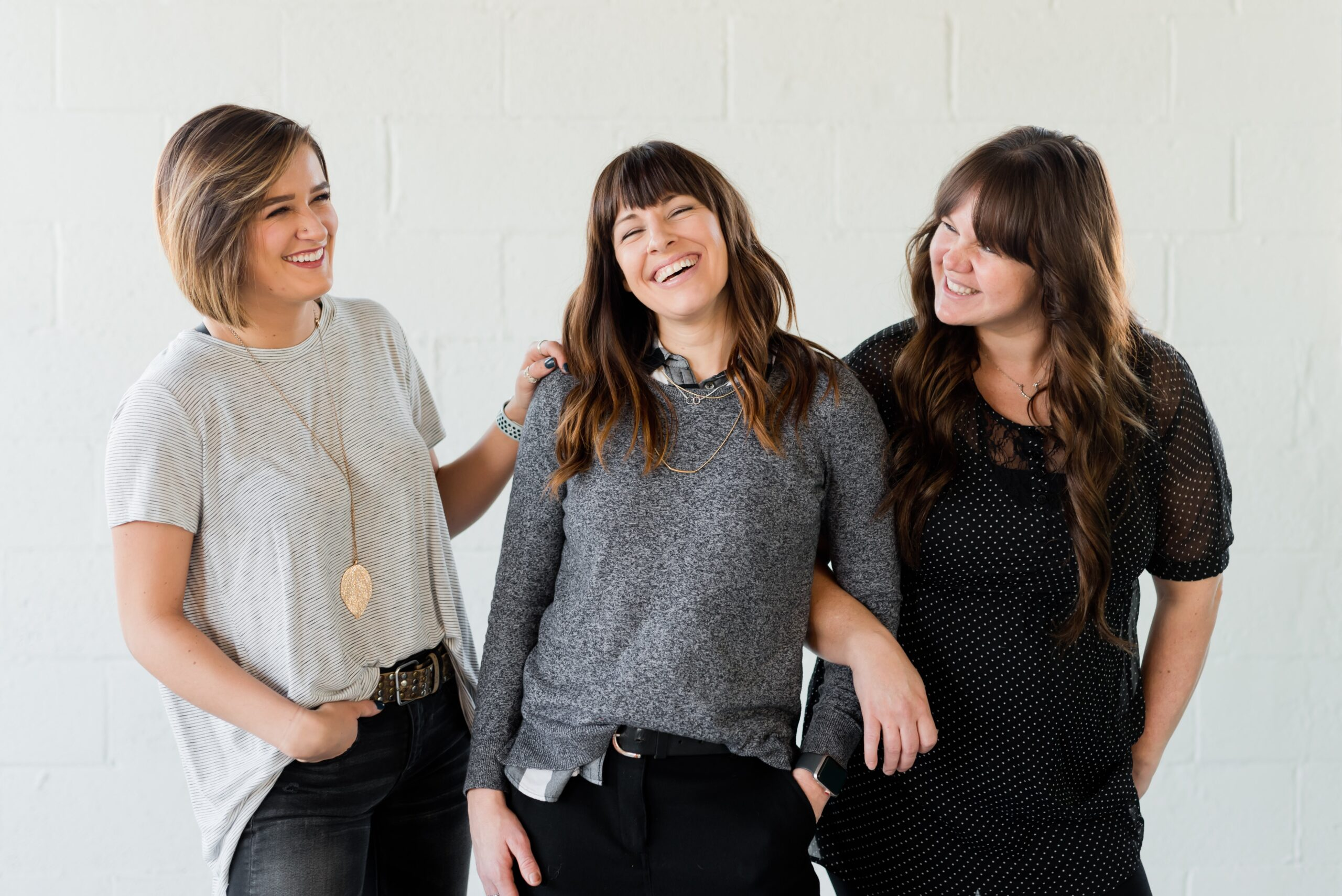 image of three female friends laughing