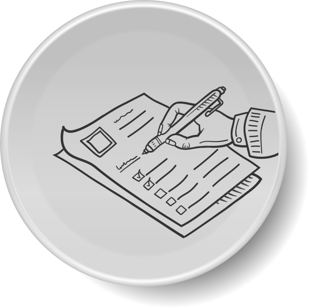 icon of a hand writing