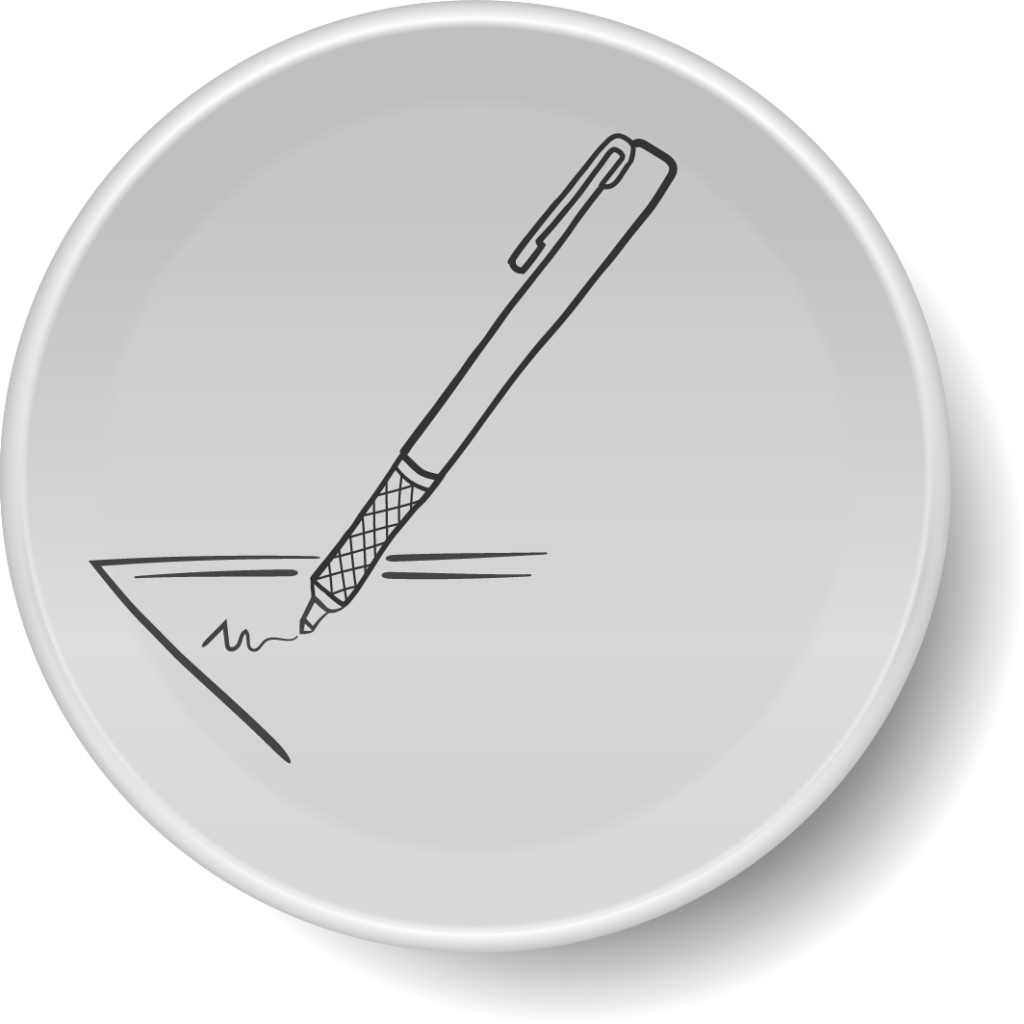 icon of pen writing