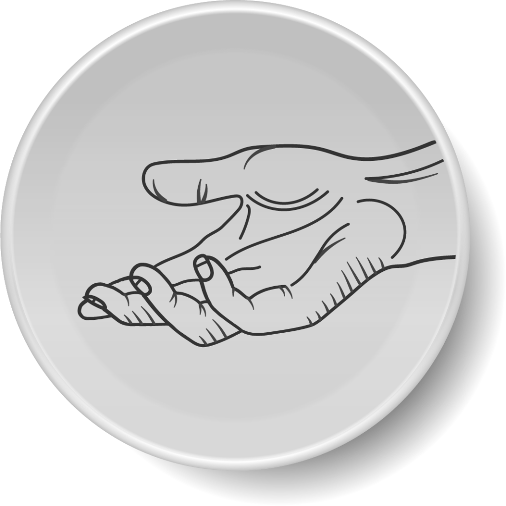 icon of helping hand